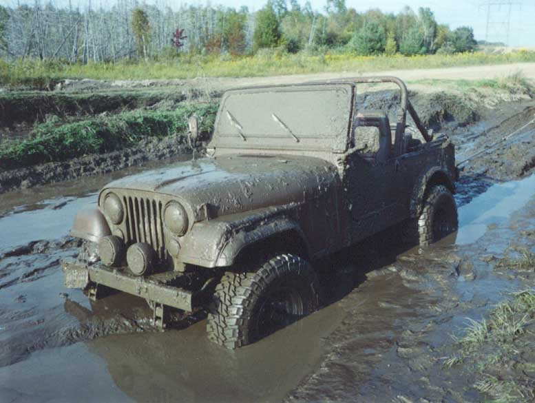 My buddy Johnathan's jeep cj after a muddy sunday tour