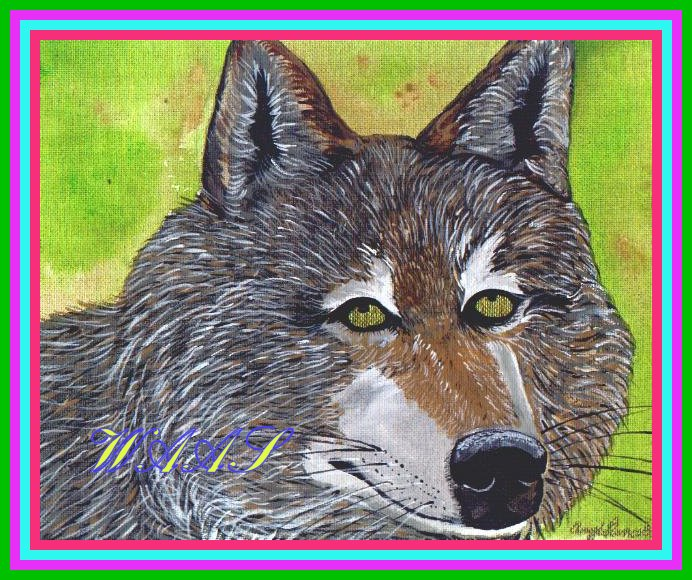 Timber Wolf acrylic for sale $55